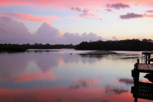 Sunset-across-Weyba-Creek-Noosaville