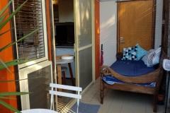 Javanese teak day bed