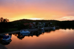 Sunrise-at-the-rear-of-The-Loft-property-Noosa-Sound